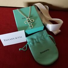 TIFFANY & CO SILVER CIRCLE CROSS NECKLACE