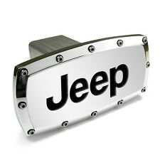 Jeep Engraved Billet Aluminum Chrome Tow Hitch Cover