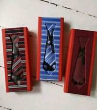 UK Mens Ties Necktie Blue Striped Red Spotted Red Striped Tie Set 100% Silk New