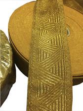Cinta de encaje de oro Briad ancho de tamaño 5CM (Precio Por Metro)