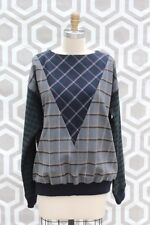 NWT Boy by Band of Outsiders Mixed Plaid Flannel Sweatshirt Top 4 FR 42  IT 46