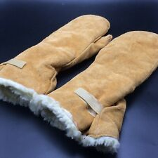 Goodwear Glove Mittens Buckskin Leather Suede Size M Gold Color Lined Canada
