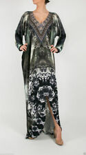 Viscose Kaftan Dresses for Women with Crystals
