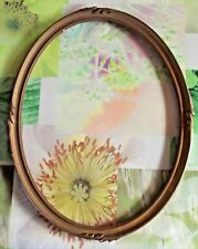 Ancien Cadre Ovale 43,5 x 34 cm Rinceaux Doré Vintage Bois old frame France