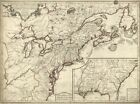 """18"""" x 24"""" 1776 Map Of English Colonies Possessions In The Continent Of North"""