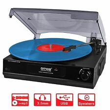 AMOS USB Turntable 3 Speed Record Player Vinyl to MP3 Converter Stereo Speakers