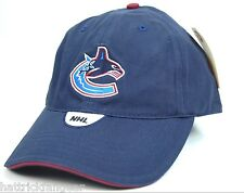 Vancouver Canucks CCM NHL Hockey Team Logo Adjustable Hockey Cap Hat OSFM