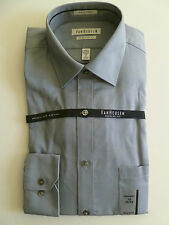 NEW Men's VAN HEUSEN Gray Dress Shirt size 15 MEDIUM 32/33 stripes