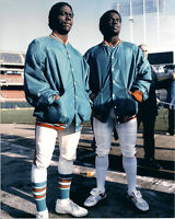 Miami Dolphins MARK CLAYTON & MARK DUPER Glossy 8x10 Photo Football Print Poster