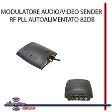 MODULATORE RF AUDIO VIDEO PLL AUTOALIMENTATO 82DB RCA COAX COASSIALE SAT DTT TV
