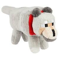 """JINX Minecraft Wolf Plush Stuffed Toy, Gray, 15"""" Long"""