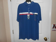 Mens Callaway Performance Golf Polo...Blue Striped...Large...NWT