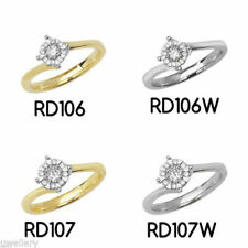 Diamond Cluster Yellow Fine Rings
