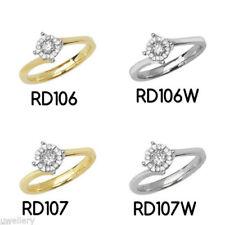 Anillos de joyería con diamantes aniversario de oro blanco diamante