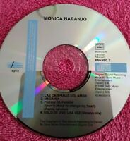 MONICA NARANJO CD MAXI SINGLE LAS CAMPANAS DEL AMOR REMIXED   SIN PORTADAS
