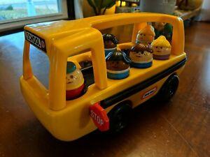 Vintage Little Tikes Yellow School Bus & 6 People