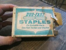 Vintage Duo-Fast Staples for Duo Fast Tackers abnd Staplers ALMOST FULL