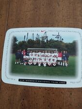 Michelle Akers signed post card with letter-22 - COA