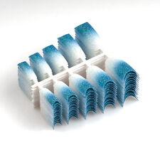 100PCS Sparkle False Plastic Glitter French Nail Tips for Art Design L32