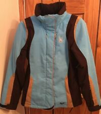 Spyder Thinsulate Multicolor Full Zip Hidden Hood Women's Size 10 Snow Jacket