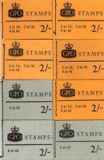 GB 8 1967/9 2/- Wilding  & Machin booklets (See description)