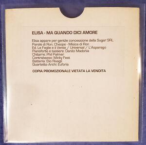ELISA CD - MA QUANDO DICI AMORE - PROMO COPY