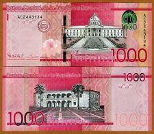Dominican Republic, 1000 Pesos Dominicanos, 2014, Pick 193, UNC > Redesigned