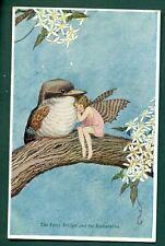 More details for elves & fairies by ida outhwaite,bridget & kookaburra,vintage postcard
