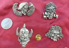 lot of 4 IRON MAIDEN vintage badges/pins - very rare