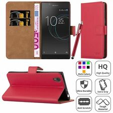 Sony Xperia L1 Case, Premium Leather Wallet Flip Book Stand Cover Case