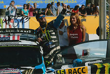 Ken Block Hand Signed 12x8 Photo Ford Fiesta Hoonigan Rally.