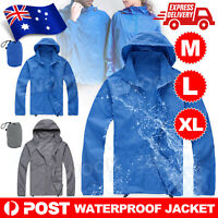 Unisex Cycling Running Hiking Bike Windproof Waterproof Jacket Outdoor Rain Coat