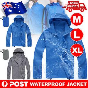 Unisex Cycling Running Hiking Bike Windproof Waterproof Jacket Outdoor Rain Coat
