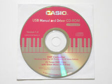 Casio USB Manual and Driver CD-ROM for Keyboard Piano Windows PC New