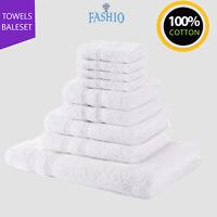 Luxury Hotel Spa Face Hand Bath Towels Bath Sheet Bale Set 100% Cotton