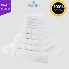 Luxury Hotel Spa Face Hand Bath Towels Bath Sheet Bale Set 100% Cotton