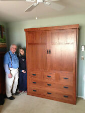 Real Wood Murphy Bed Oak Mission Collection