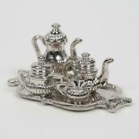 Cute 1:12 Ceramic Teapot + Before Ort-motiv With Tea Bag Dollhouse Miniature