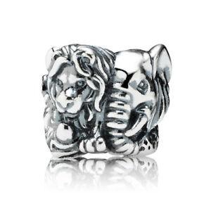 Genuine Pandora African Safari Charm Lion Cheetah Elephant 791360