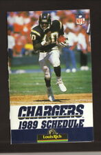 Gary Anderson--San Diego Chargers--1989 Pocket Schedule--Louis Rich