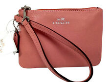 COACH Wristlet Wallet Pocketbook Cross Grain Leather Zip Coin Purse Gift 52850