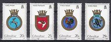 Gibraltar 1984 Naval Crests Set UM