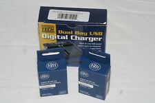 2-Pack of DMW-BCM13E Batteries and USB Dual Battery Charger for Panasonic