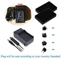 2 Battery +Charger  for Praktica Luxmedia 18-Z36C Luxmedia 20-Z35S 3.7V 1800mAH