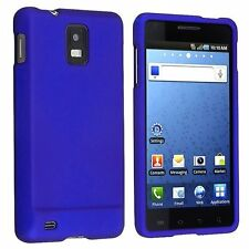 Hard Rubberized Case for Samsung Infuse 4G i997 - Blue