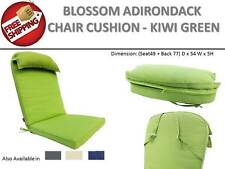 GREEN Adirondack Seat Pad Chair Lounge Cushion Pillow |Deck Outdoor Garden Beach