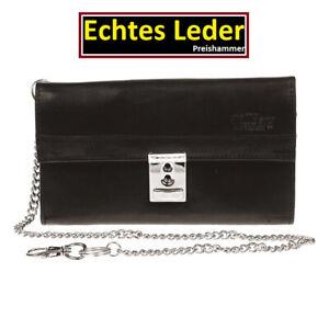 Kellnerbörse ECHT LEDER Portemonnaie Kellner Börse Taxibörse Dunkelbraun - X4