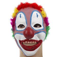 Scary Evil Clown Mask Latex Halloween Horror Red Hair Adult Morbid Fancy Dress^