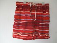 Caribbean Joe Men's Size L Large Striped Swim Shorts