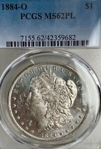 1884-O MS62PL Proof-Like Reflective PCGS New Orleans Mint Morgan Silver Dollar